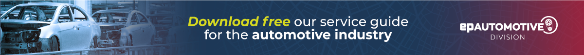 This is a banner. Clicking on it, you can download our service guide to the Automotive Industry.