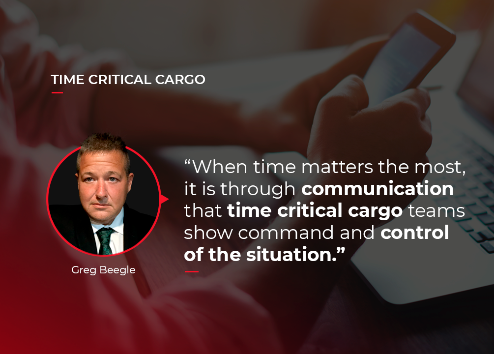 Communication in logistics to ensure peace of mind when moving urgent cargo