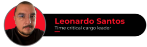 Picture of Leonardo Santos, Time critical cargo leader, author of this article