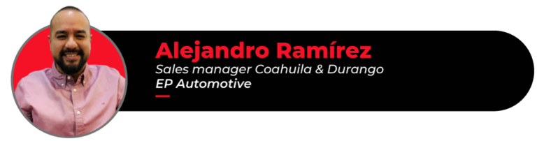 Picture of Alejandro Ramírez, EP Automotive sales manager for Coahuila and Durango